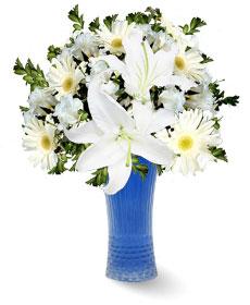 Cam Vazo İçinde Beyaz Çiçekler